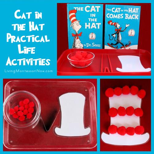 Cat in the Hat Practical Life Activities