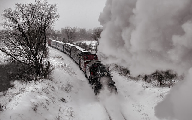 Steam and Snow @ Waterloo, Ontario