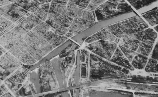 Heilbronn - Air View of City Center (Detail), April 1, 1945