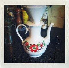 Our new coffee pot...found at the thrift store for 2,50 €