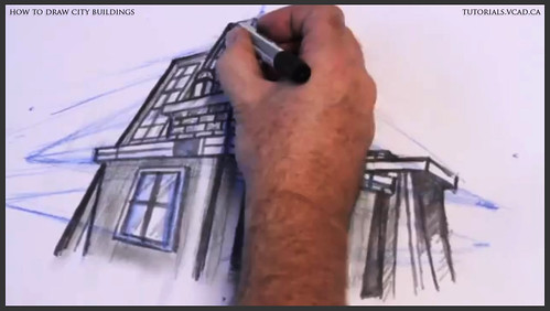 learn how to draw city buildings 038