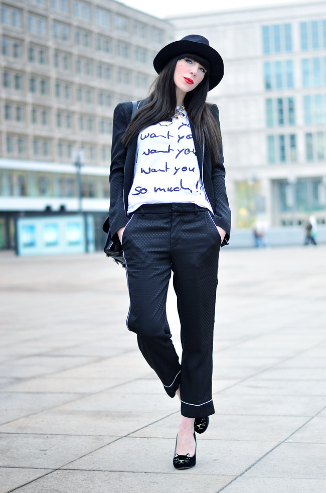 Black Zara Outfit with Saint Noir Shirt 10
