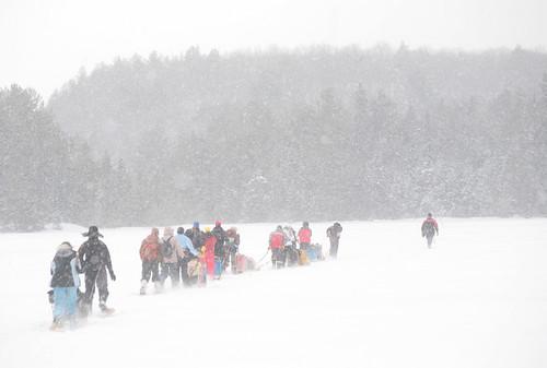 Sledding Through Snow by peterkelly