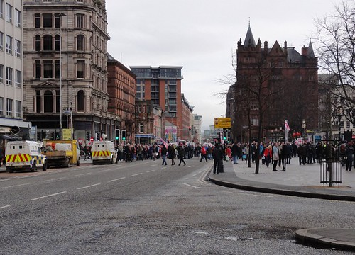 Illegal Flag Protest in Belfast