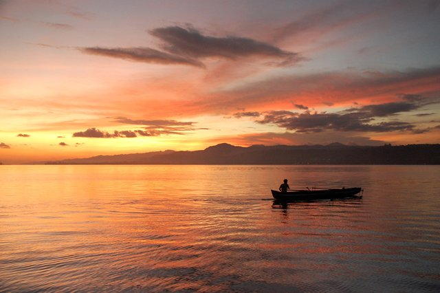 Sunset- Ambon inner harbor