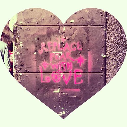 """""""Replace fear with love"""" stokes croft graffiti #bristol"""