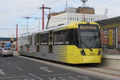 Droylsden tram station and Flexity Swift M5000