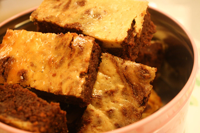 Kahlua Cheesecake Brownies