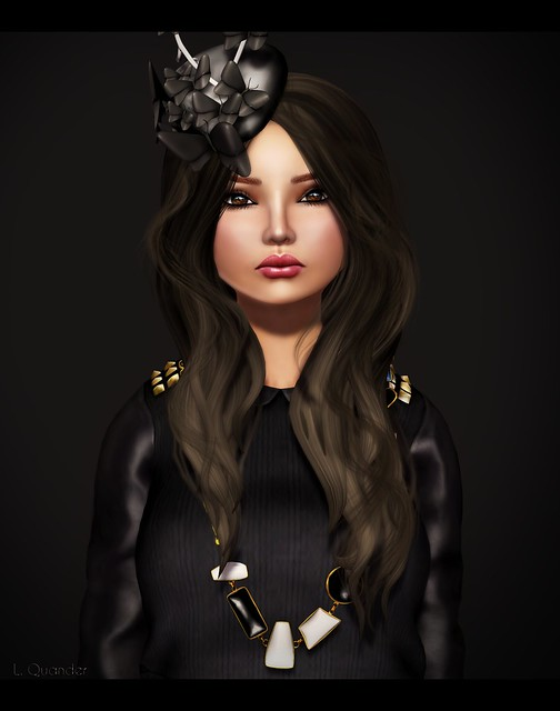 c88 FEB villena - studded sweater  black  & -Glam Affair- Oly Hat 07