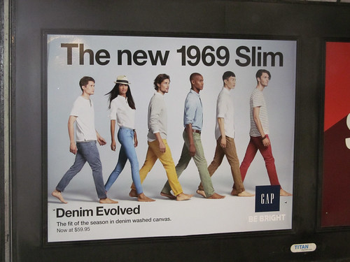 Apes in jeans