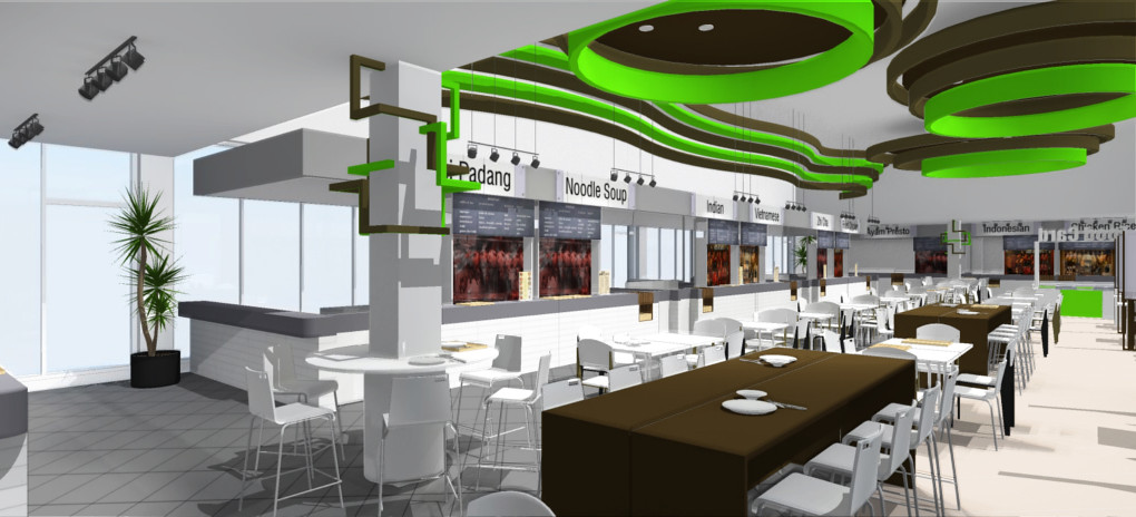 Helios Works: Food Court Concept