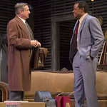 Will McGarrahan ('Karl Lindner') and LeRoy McClain ('Walter Lee Younger') in the Huntington Theatre Company's production of Lorraine Hansberry's A RAISIN IN THE SUN. Mar. 8 - Apr. 7, 2013 at Avenue of the Arts / BU Theatre. huntingtontheatre.org. photo: T. Charles Erickson