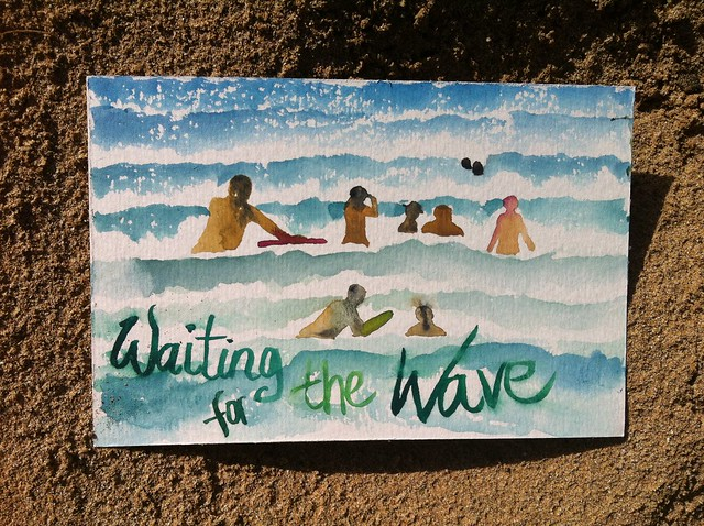 Hawaii postcard 6: Waiting for the wave