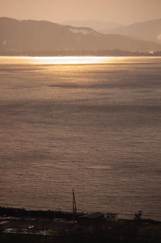golden sea,golden sky