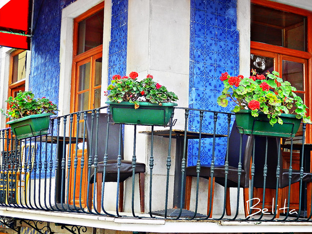 colorful verandah