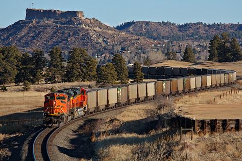 colroado bnsf castlerock coaltrain jointline bnsf9356