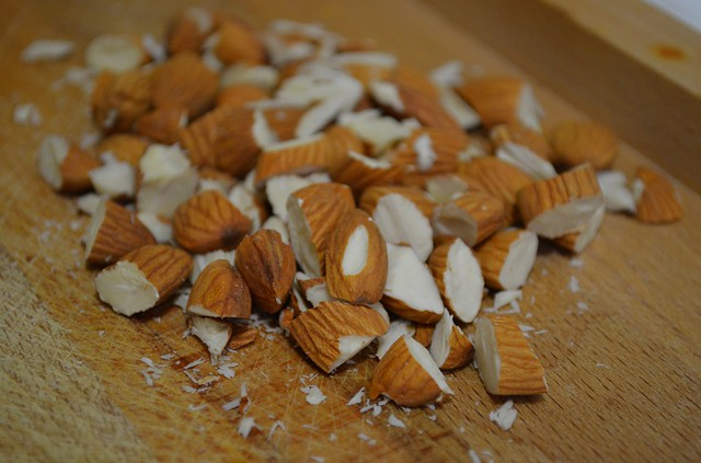 cut up almonds