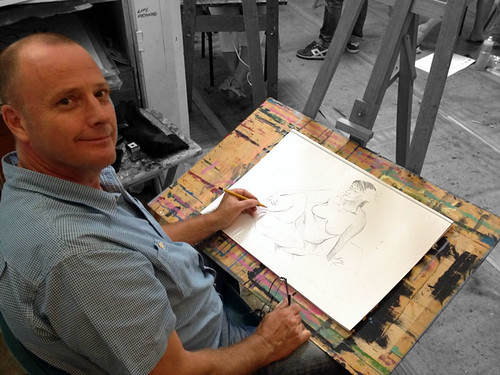 Steve Murnaghan at Life Drawing Class Monday 7pm