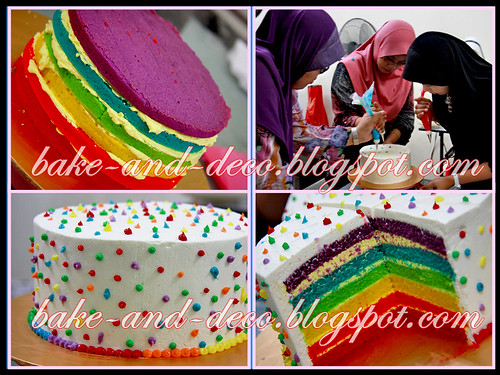 Baking & Deco Class: Rainbow Cake ~ 12 August 2012