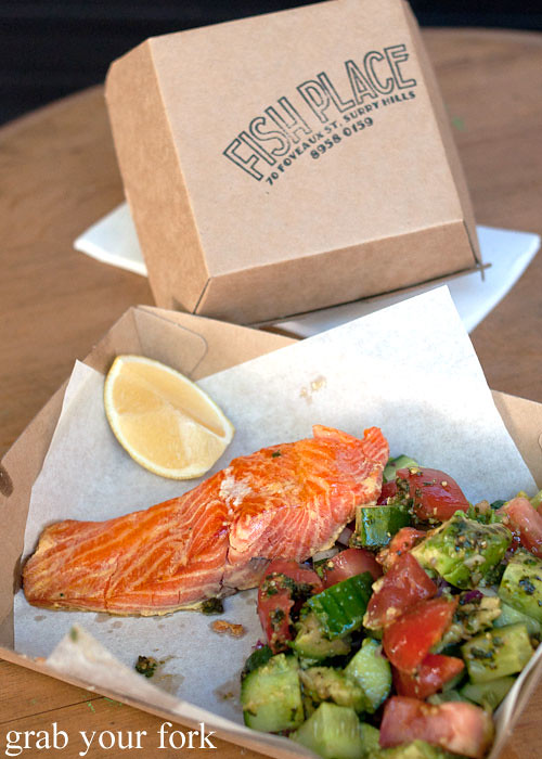 Hot smoked ocean trout at Fish Place Surry Hills