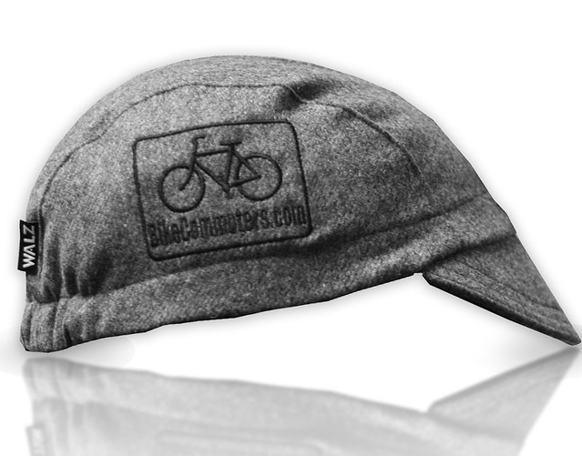 grey black wool BC cap