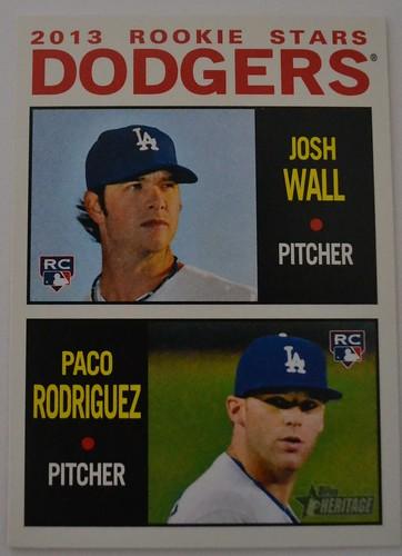 Josh Wall/Paco Rodriguez Topps Heritage 2013