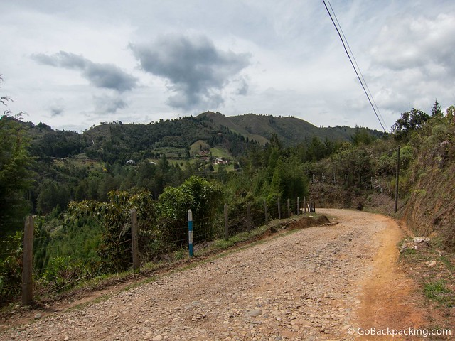 Dirt road near Guarne
