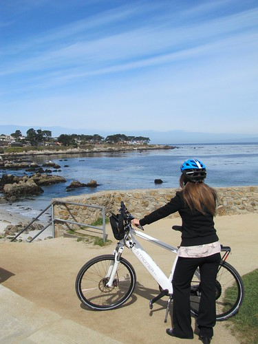 Biking on the Monterey Bay Coastal Recreation Trail