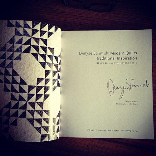 I want to make every quilt in this (super amazing autographed) book! Thanks for setting up the giveaway, @poppyprint !