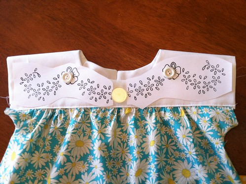 Easter dress embroidery...WIP