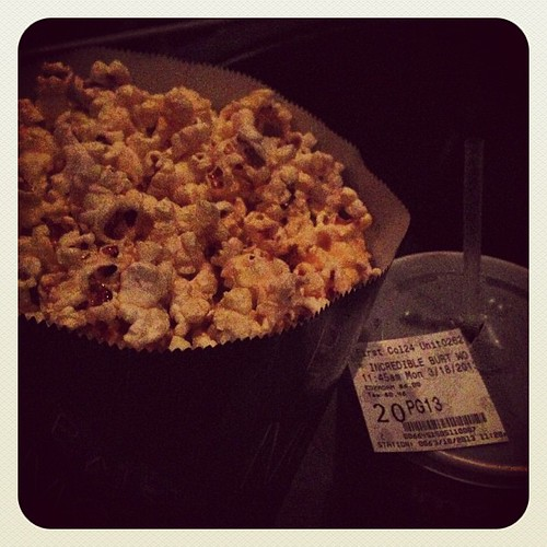 77:365 A birthday treat... movie, popcorn & diet cherry coke