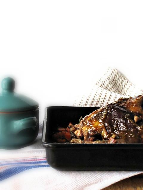 Fagiano marinato alla Birra e Vincotto con laccatura al Mandarino