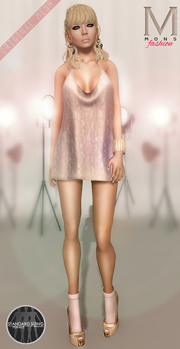 MONS / Rigged Mesh / Draped MiniDress by Ekilem Melodie - MONS