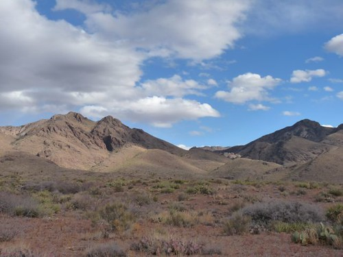 Organ Mountains near Soledad Rocks