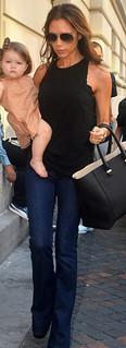 Victoria Beckham Flared Jeans Celebrity Style Women's Fashion