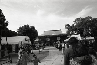 Spectacle of Ikukunitama shinto shrine.