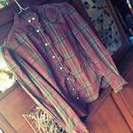 Ralph Lauren plaid puff sleeve blouse