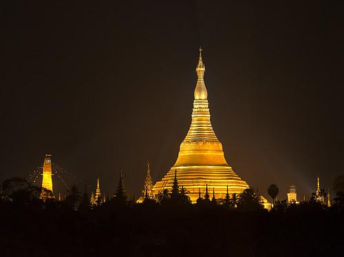 The Shwedagon Pagoda at Night