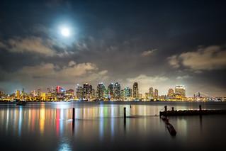 Full Moon over San Diego