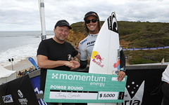 Jordy Smith wins the Momentum Energy Power Round at the 2013 Rip Curl Pro Bells Beach