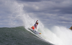 Carissa Moore on her way to victory in the 2013 Rip Curl Women's Pro Final.