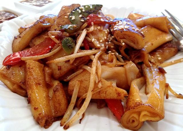 Pan Fried Rice Rolls