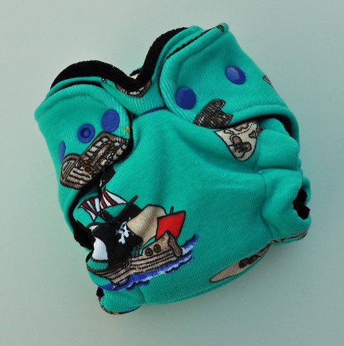 Bumstoppers Newborn Hybrid Fitted Ahoy Matey **New Style**