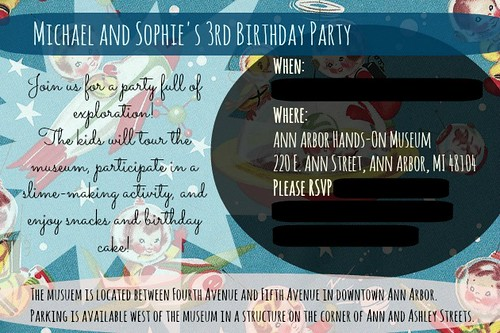Michael and Sophie's 3rd Birthday Party for Blog