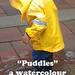 """Puddles"" a watercolour demo"