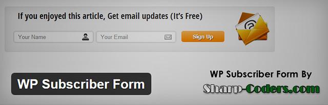 Download WP Subscriber Form plugin