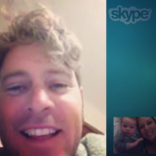 Our last Skype with Daddy before we leave for home #cantwaittoseehim #skype #longdistancefamilytime