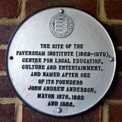Photo of Faversham Institute white plaque