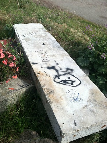 Concrete slab con revolucionario Albany Bulb