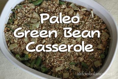Paleo Coconut Green Bean Casserole